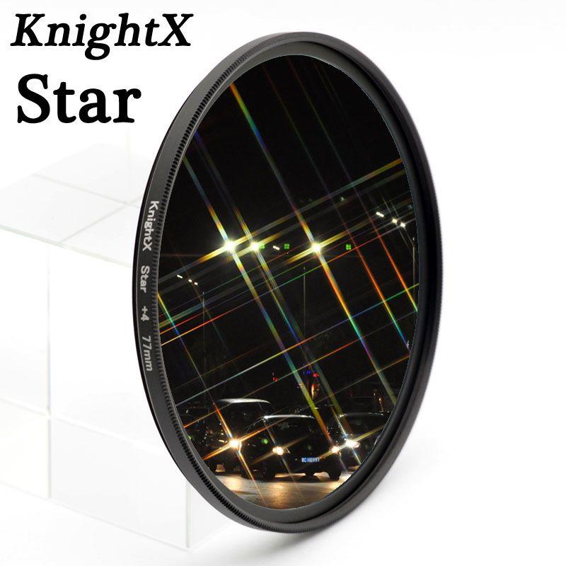 Knightx Звезда фильтра 52 мм 58 мм 67 мм 4 6 8 точка линии для Canon Nikon d3200 d5200 1200d 600d 100d t5i d5500750d t5 a57 DSLR Объектив
