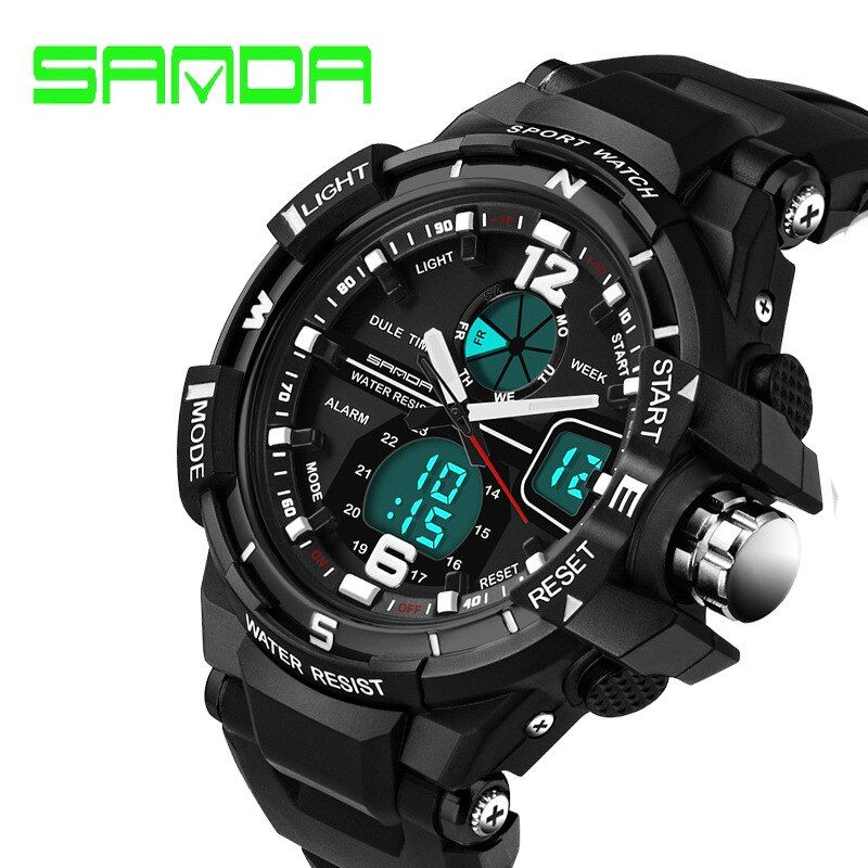 2017 Promotion New Brand Sanda Fashion Watch Men G Style Waterproof Sports Military Watches Shock Luxury Analog Digital