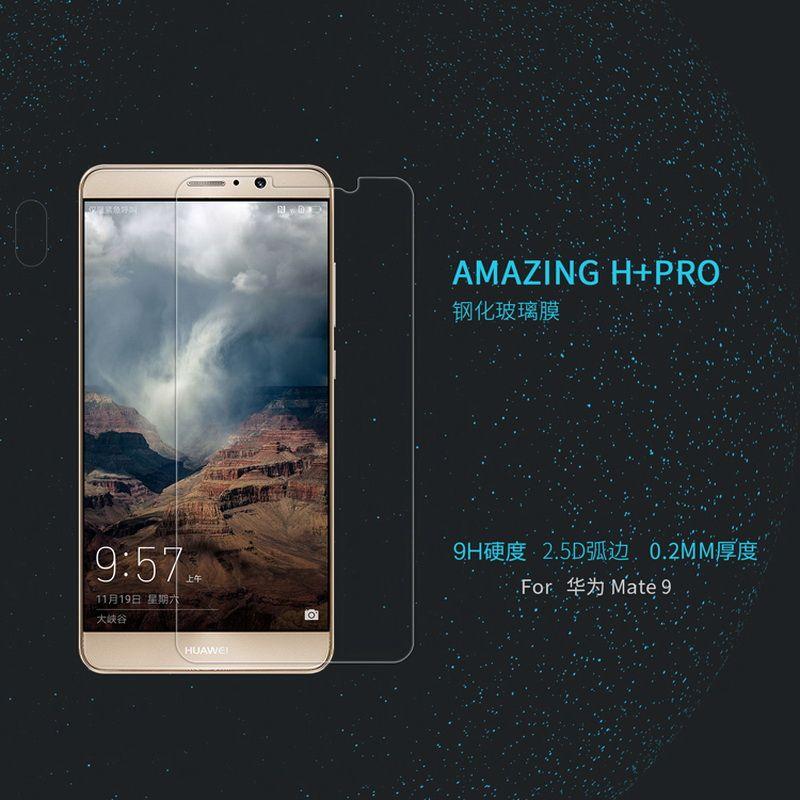 Ultra Delgada Para Huawei Mate 9 Vidrio Templado Mate9 Nillkin Increíble H/H + Pro Protector de Pantalla Anti-explosión 2.5D Película Protectora