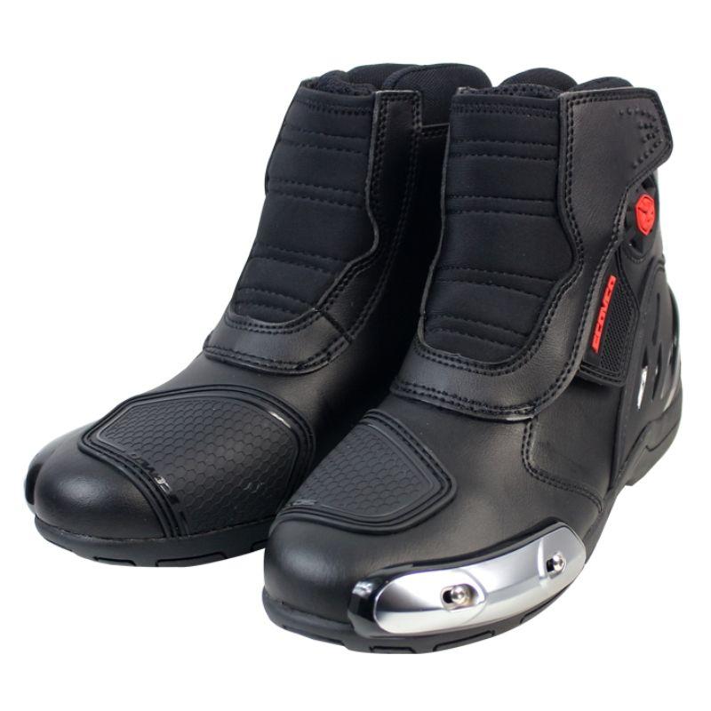 Scoyco MR002 Moto Racing Leather Motorcycle Boots Shoes Motorbike Riding sport road SPEED professional botas Men Women Black