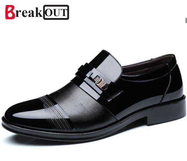 Вырваться Высокое качество PU Обувь кожаная для девочек Для мужчин, Свадебная обувь на шнурках, Мужские модельные туфли, британский стиль мо...