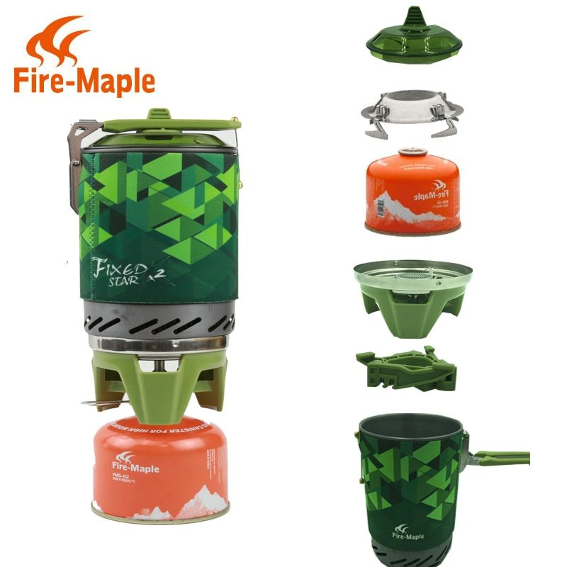 Fireplat X2 compact One-Piece Camping Stove Heat Exchanger Pot camping equipment set Flash Personal Cooking System