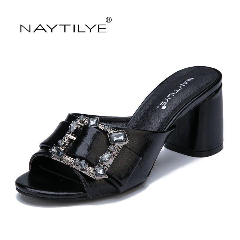 Sandalen frauen 2017 sommer PU leder 36-41 größe Schwarz Silber High heels schuhe frau Kostenloser versand NAYTILYE