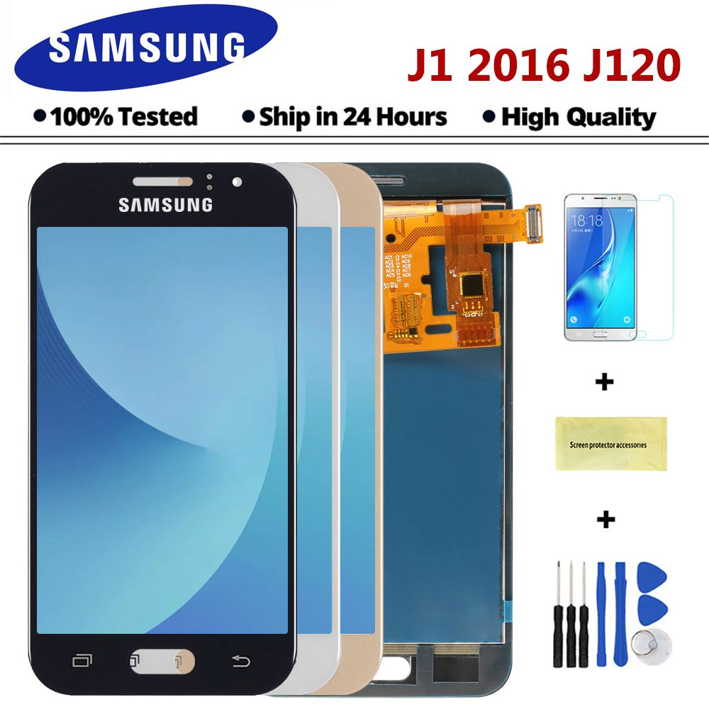 Sinmaytai LCD For Samsung Galaxy J1 2016 J120F J120DS J120G J120M J120 LCD Display Touch Screen Digitizer Assembly Replacement