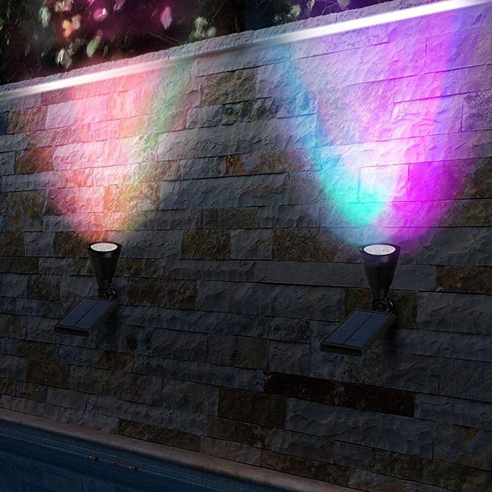 Nouvelle lumière de pelouse solaire 7LED couleur maison extérieure étanche applique murale jardin Photo arbre paysage projecteur lumière extérieure livraison directe
