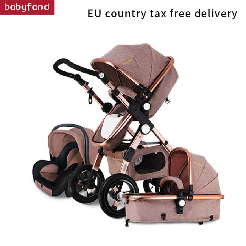 RU Free ship ! 3 in 1 baby stroller aluminium alloy frame folding strollers europe baby pram light umbrella baby car 3 in 1