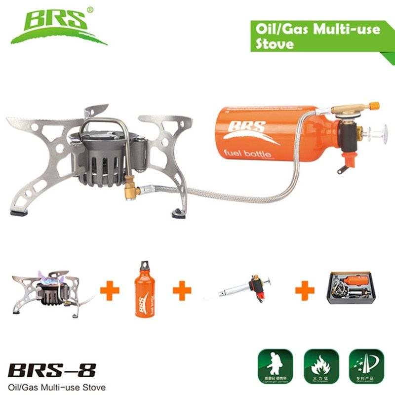 BRS-8 Portable Camping Oil Gas Stove Sets Outdoor Picnic Cooking Cooker Burner Heat Gasoline Oven