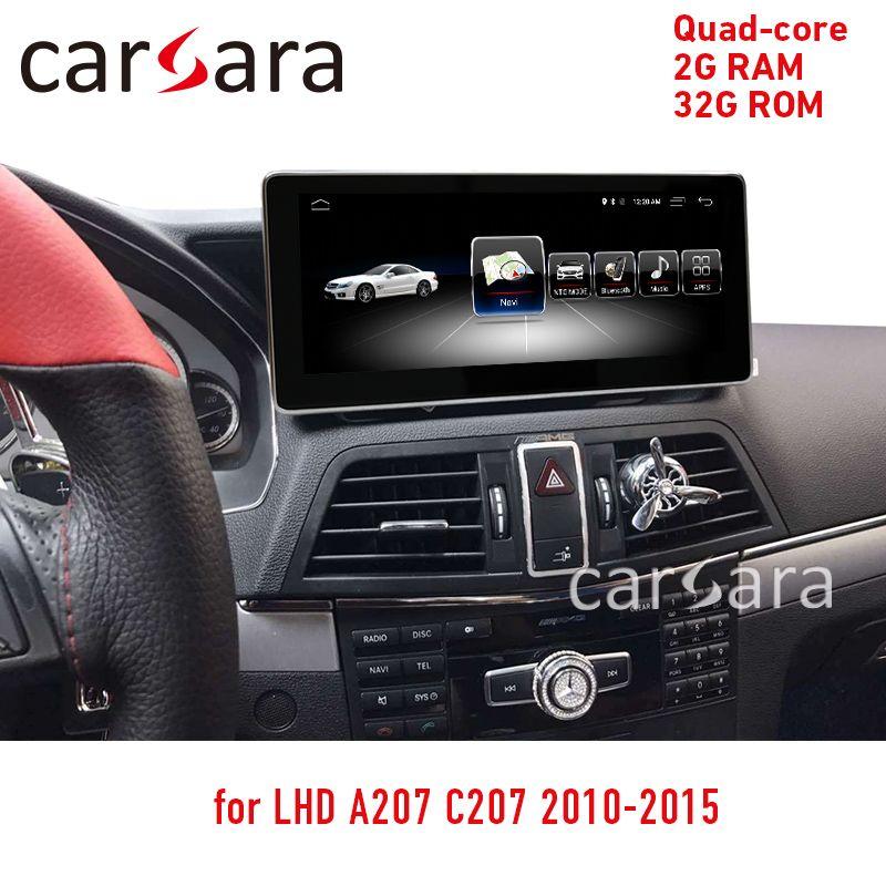 2G RAM 32G Android touchscreen für E Klasse coupe C207 A207 2010-2015 10,25