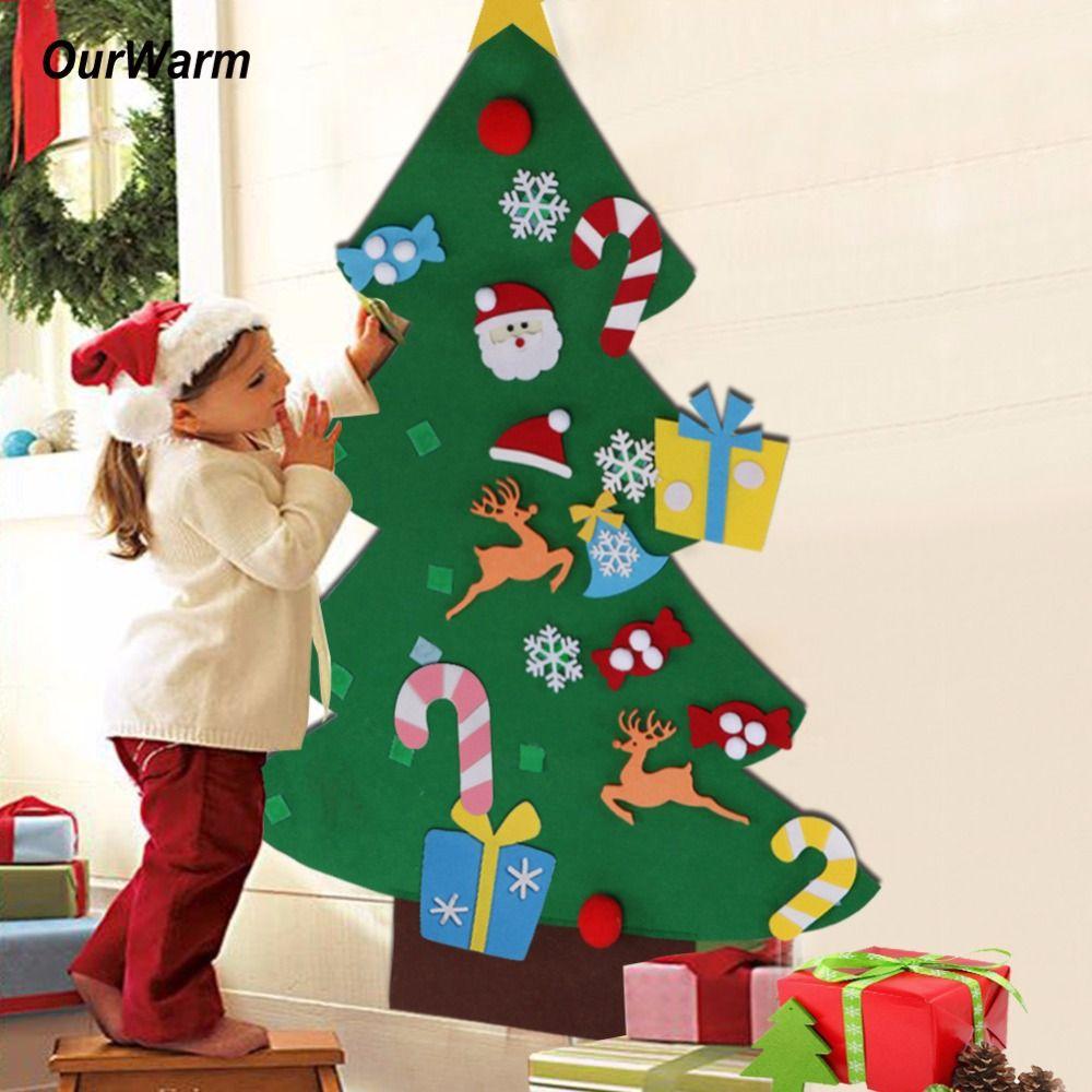 Ourwarm Nouvelle Année Cadeaux Enfants BRICOLAGE Sentait Arbre De Noël Décorations De Noël Cadeaux pour 2018 Nouvelle Année Porte de Tenture ornements