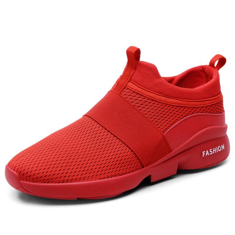 Air Mesh chaussures décontractées hommes baskets sans lacet chaussures d'été homme léger respirant marche mode chaussures pour hommes chaussure homme