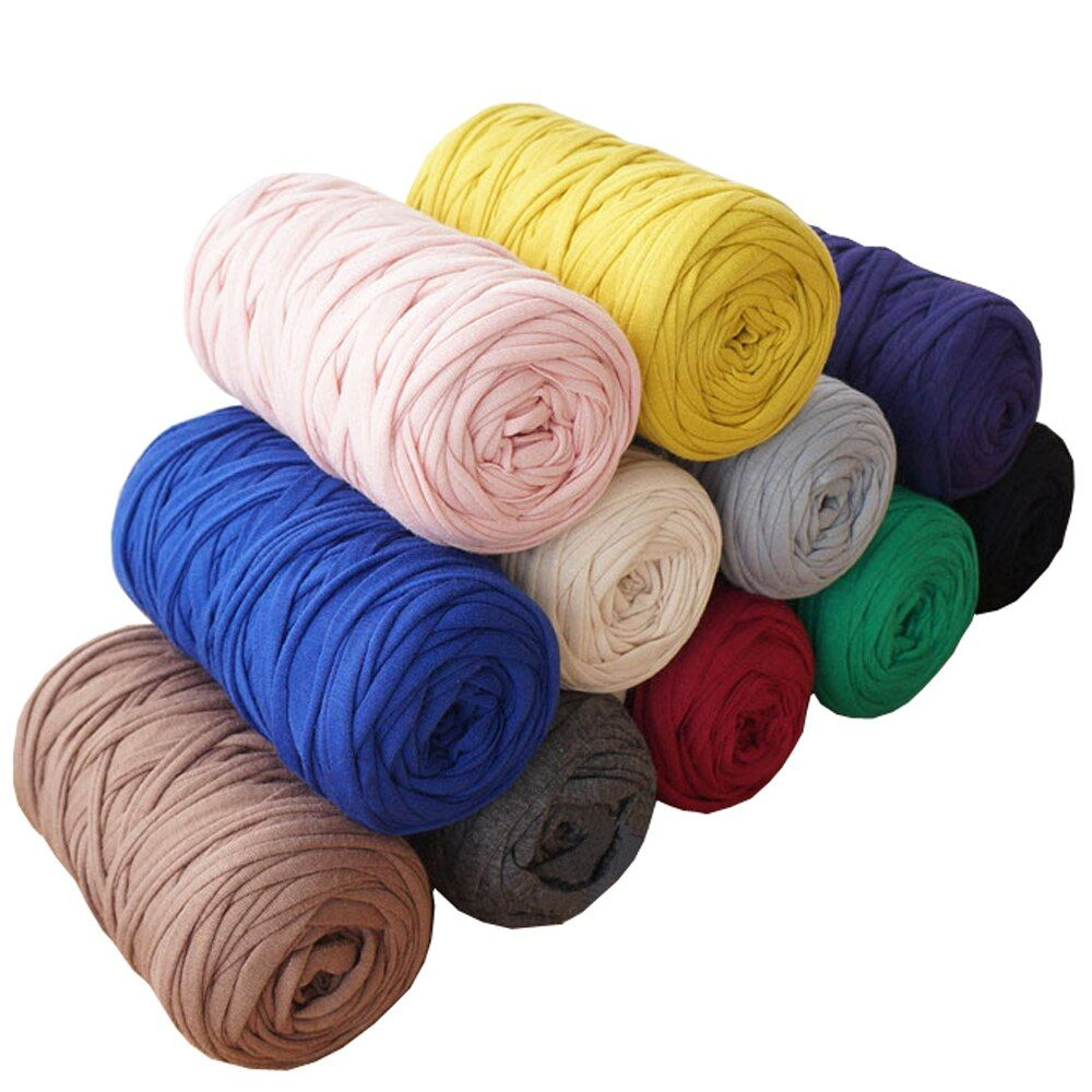 210 g/pcs fantaisie fils pour tricoter à la main épais fil Crochet tissu fil bricolage sac sac à main tapis coton tissu T-Shirt fil