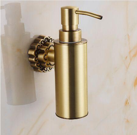 New Wall Mounted Carving Antique Bronze Finish Brass Material Soap Dispenser /Bathroom Accessories Liquid Soap Dispenser Pump