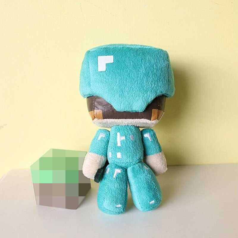 Minecraft Steve Plush Toys 1pcs 18cm Steve With Diamond Sword Plush Soft Stuffed Doll Toys Brinquedos for Kids Children Gifts