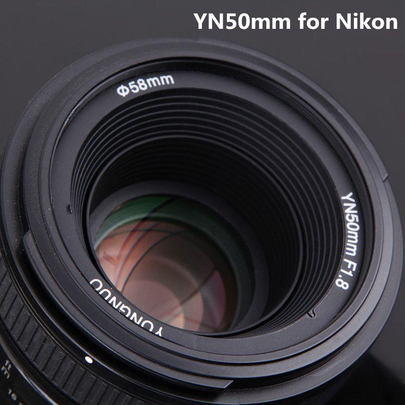 YONGNUO 50mm F1.8N Standard Prime Camera Lens YN50mm Auto Focus Large Aperture for Nikon D5300,F1.8 for Canon EOS 70D 5D2 5D3