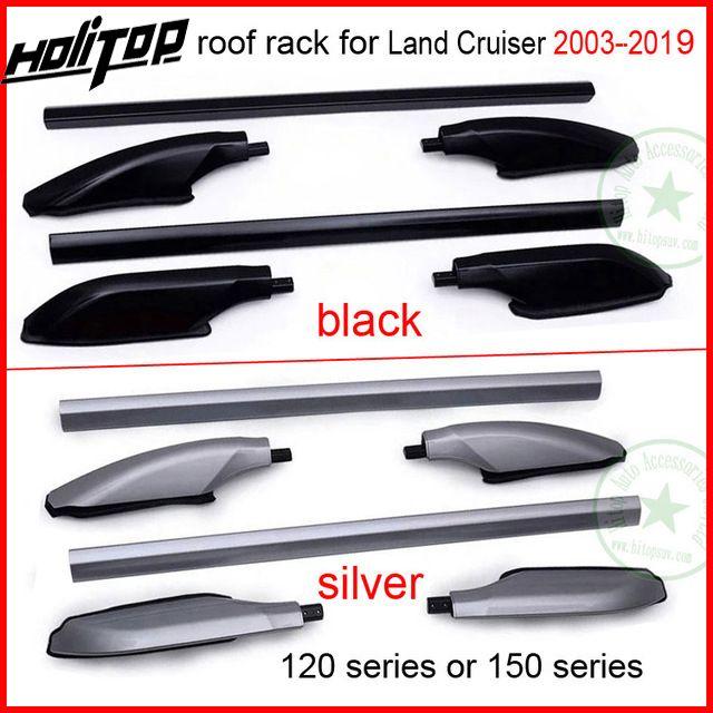 Barre de toit barre de toit pour Toyota Land Cruiser 120 ou 150 série FJ120 150 LC120 150 KZJ120 UZJ120 TRJ120 LJ120, argent ou noir