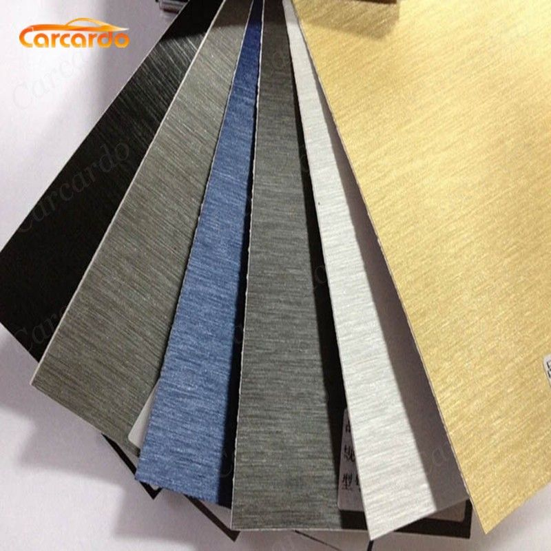 Carcardo 1 PC 1.52mx50cm Aluminum Brush Vinyl Car Wrap Aluminium Vinyl Car Sticker FREE SHIPPING
