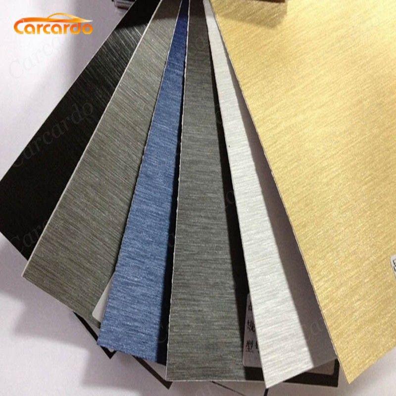 Carcardo Aluminium brosse vinyle Film voiture autocollant Aluminium vinyle Wrap Aluminium brosse voiture autocollants voiture Wrap Auto autocollant pour voiture