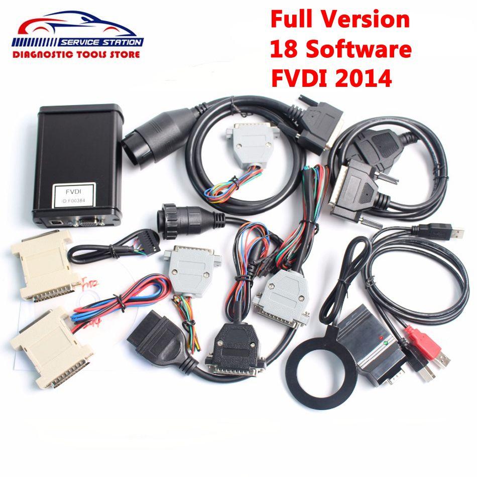 DHL Бесплатная Best FVDI полной версии в том числе 18 Программы для компьютера активированный FVDI ABRITES командующий FVDI 2014/2015 OBD2 диагностический скан...