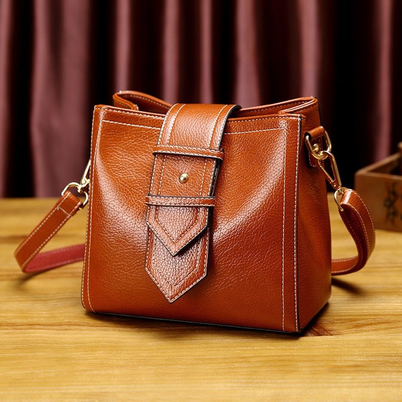 Crossbody tote bags ladies genuine leather handbag women's small shoulder messenger bag female top-handle bag tassels new T18