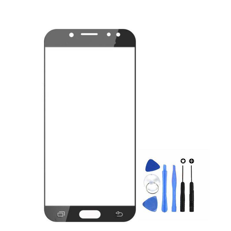 Vannego Livraison Gratuite LCD Écran Externe Avant Verre Lens Cover pour Samsung Galaxy J730 J7 pro 2017 Pièces De Rechange avec outils