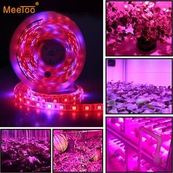 LED Phyto Lamps Grow Lights SMD 5050 LED Strip Light DC12V Red Blue 3:1 4:1 5:1 for Greenhouse Hydroponic Plant Growing 5m/lot