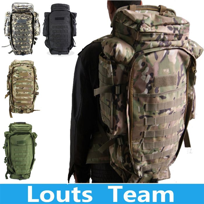 2018 100% Men Women Military Tactical Hiking Rifle Bag Trekking Travel Camping Outdoor Sport Backpack <font><b>Rucksacks</b></font> Climbing Bags