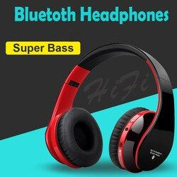 Wireless Bluetooth Headphone Headset dengan Bluetooth 4.1 Stereo Mikrofon untuk Musik Anak Lipat Sport Earphone Headset Kabel