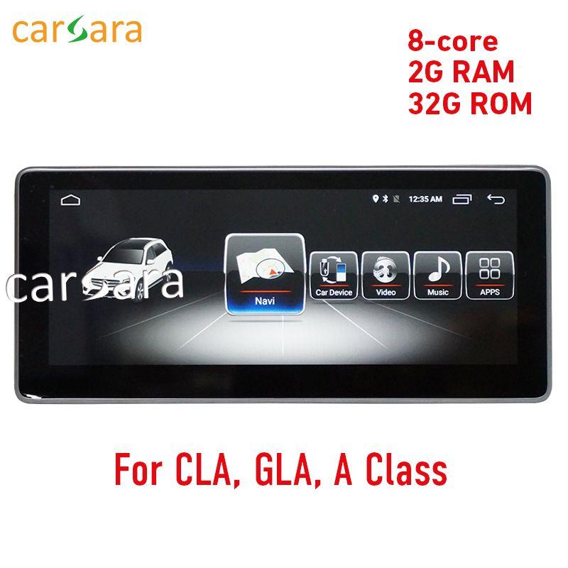 2g RAM 10,25 Android display für Mercede Benz CLA GLA EINE Klasse W176 2013-2017 GPS Navigation radio stereo dash multimedia player