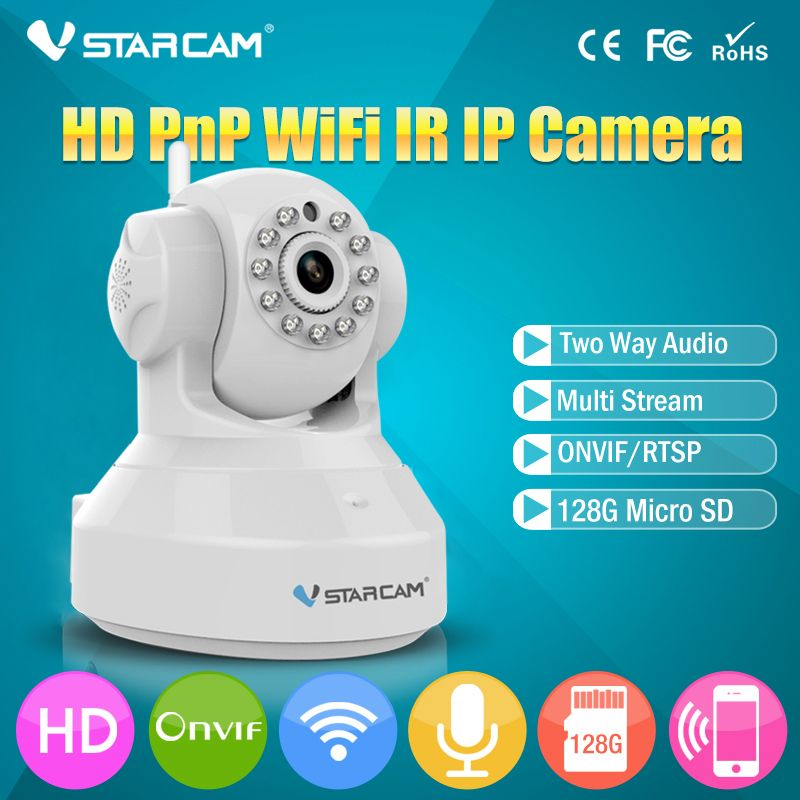 VStarcam Wireless Pan Tilt IP Network WiFi Camera with Two-Way Audio and Night Vision C7837WIP