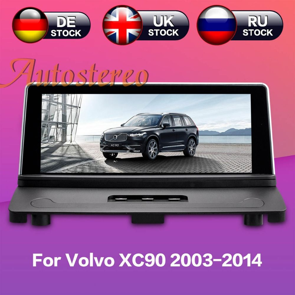 Android 7.1 Car GPS navigation For Volvo xc90 2007-2013 No DVD player stereo Satnav Head unit Multimedia radio tape recorder IPS