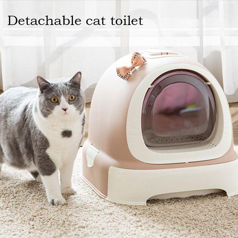 Cat Closed Beetle Toilet Closed Cats Sandbox Bedding Training Pet Toilet Cat Bedpan Pet Mascotas kitten Litter Box supplies