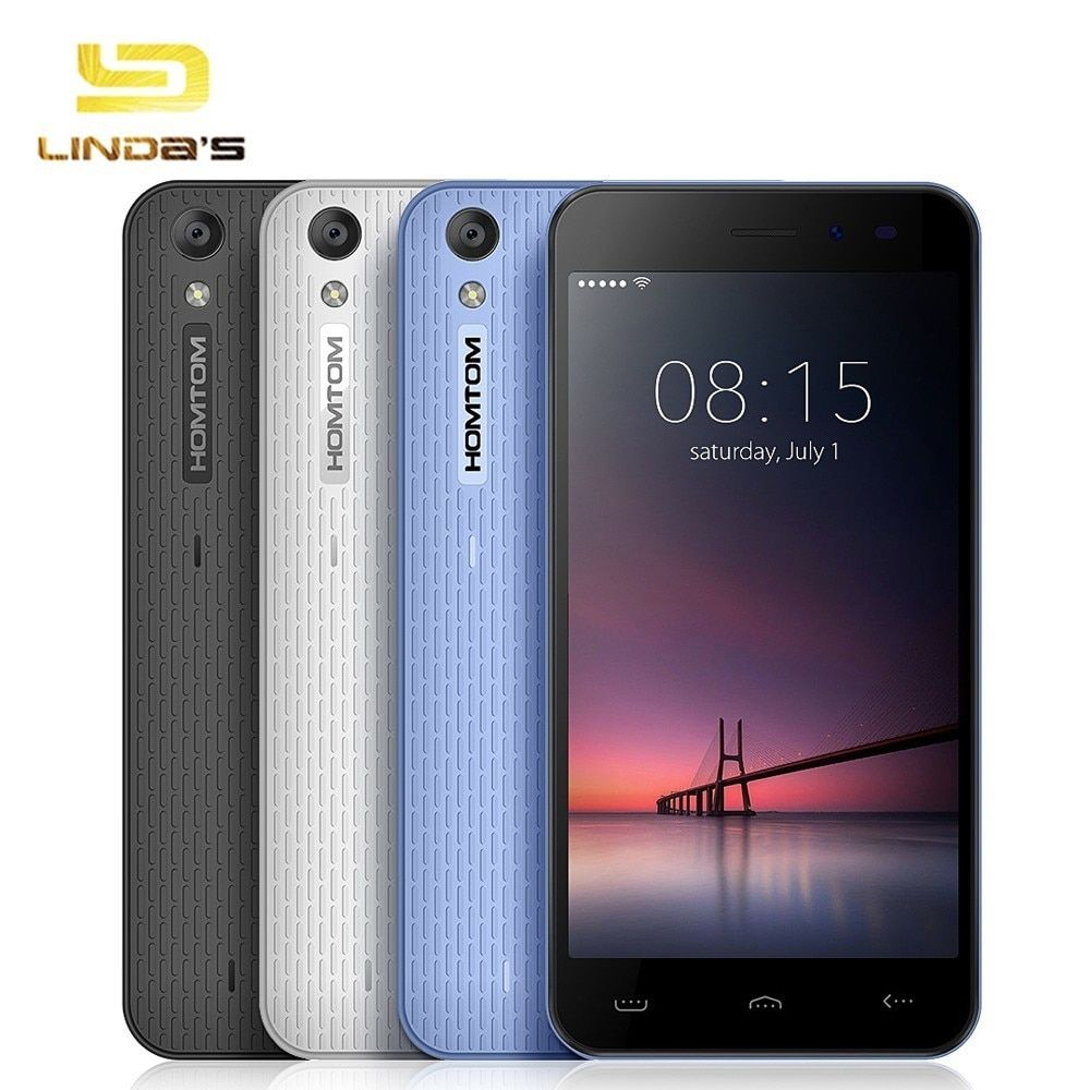 Homtom HT16 5.0'' 3G WCDMA Phone MT6580 Quad Core Android 6.0 Smartphone 1GB 8GB 1280 x 720 5.0MP+ 2.0MP 3000mAh Cell Phone