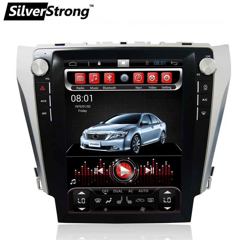 SilverStrong 12.1'' IPS Screen Android6.0 32GB Tesla Screen Car GPS For Toyota Camry 2012-2015 support JBL amp AC climate