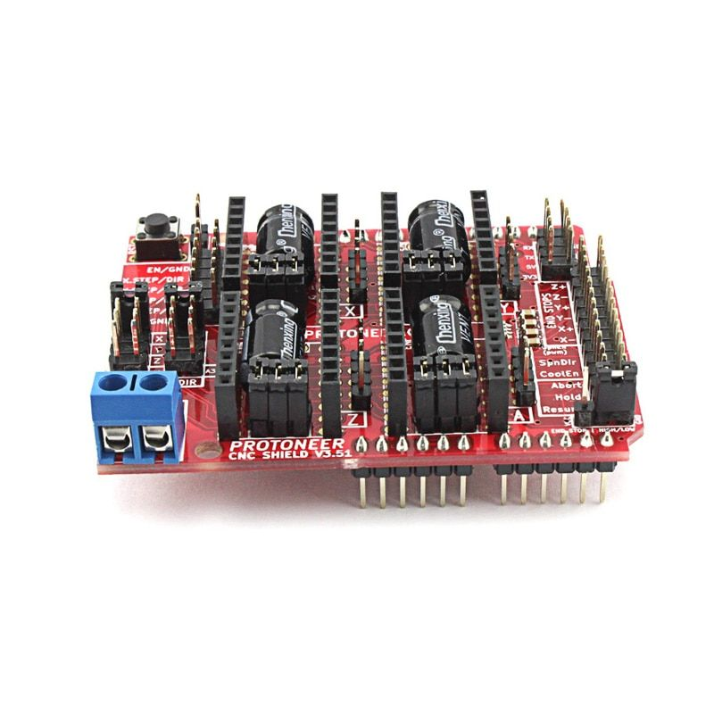Elecrow CNC Shield V3.51 for Arduino GRBL v0.9 Compatible with PWM Spind Board DIY CNC Projects Uses Pololu Drivers