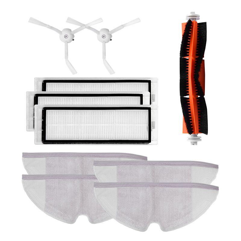 Top Verkauf 10 teile/los Neue Wichtigsten Pinsel Hepa-Filter Seite Pinsel Mopp Tücher Kit Für Xiaomi Mijia Roboter Roborock S50 s51 Roborock 2