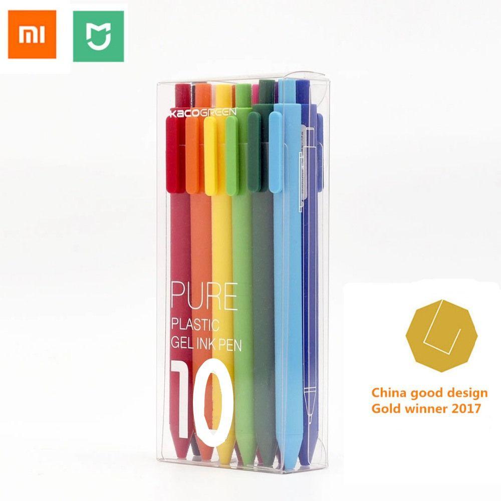 Xiaomi mi jia stylo de signe coloré, KACO 20/10 couleurs 0.5mm stylo, longueur d'écriture 400 M, plastique ABS pour xiaomi mi maison intelligente maison