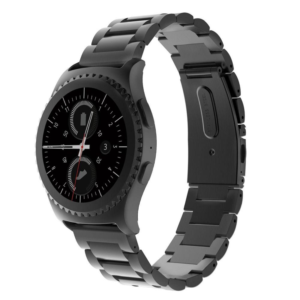 Bande en acier inoxydable de largeur 20mm pour Samsung Gear S2 boucle en métal bracelet de montre classique pour Samsung Gear S2 bande de remplacement