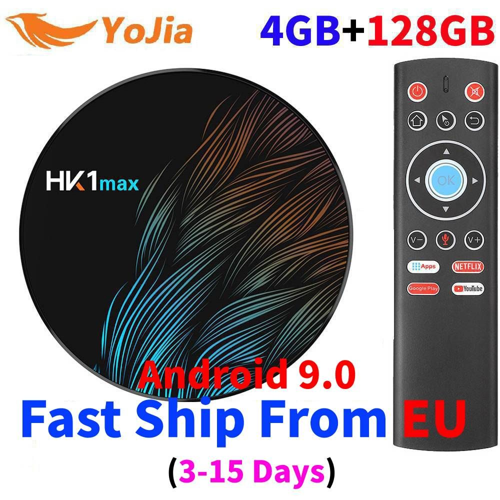 MiNi 4K Smart TV BOX Android 9.0 Rockchip 4GB RAM 128GB HK1 MAX TV receiver Media player Google Assistant Set top Box HK1MAX