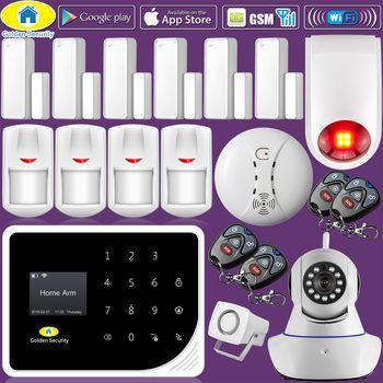 Golden Security S5 WIFI GSM 3G Alarm System Security Home GSM Alarm System APP Control Wired alarm Pet Immune Detector DIY Kit