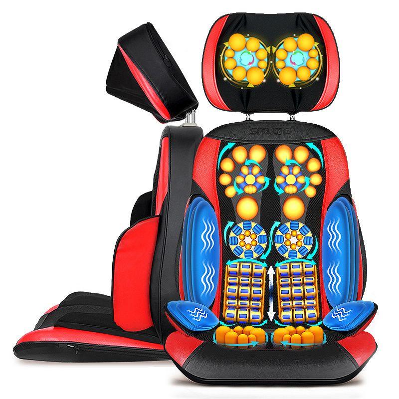 Full Body Electric Massage Chair Office Pad Vibration Mat Heat Neck Back Cervica Massager Cushion China Shiatsu Device