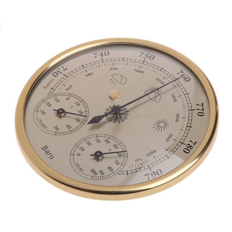 Wall Mounted Household Barometer Thermometer Hygrometer <font><b>Weather</b></font> Station Hanging J12 dropshipping