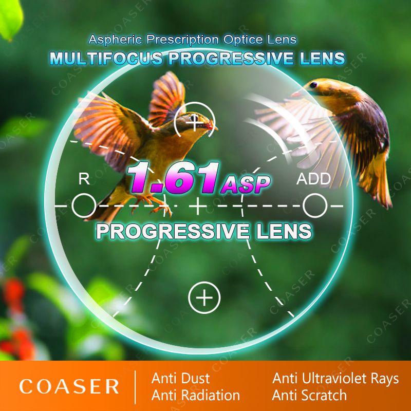 1,61 Progressive Multifokale Objektiv Freies Form Übergang Photochrome Gläser Myopie Presbyopie Rezept Optische Vision Brillen