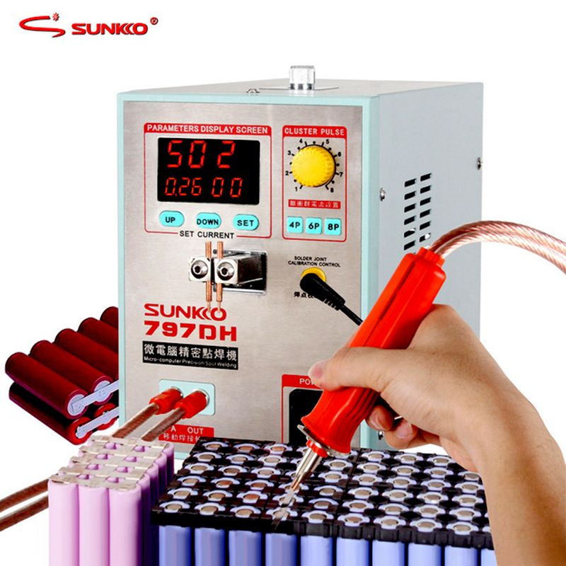 SUNKKO 797DH battery spot welding machine 3.8KW high power precision pulse spot welding machine Spot weld max thickness 0.35mm