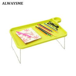 Selalu Aku Meja Laptop Notebook Meja Floralby Sofa Bed Tray Meja dengan Kaki Lipat Laptop Sarapan Bed Tray untuk Makan Belajar