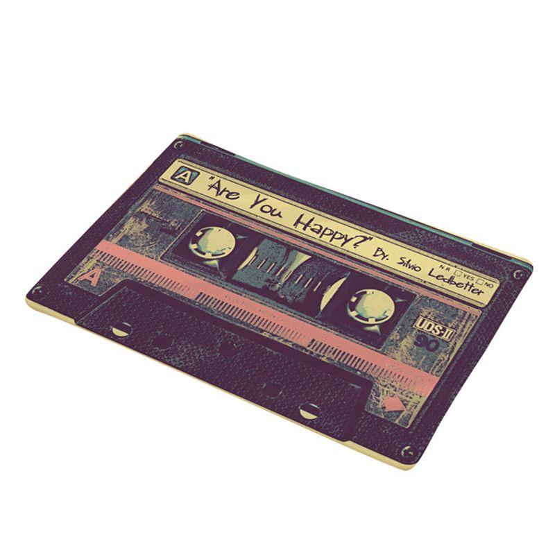 Vintage Cassette Bande Intérieur Paillasson Antidérapant seuil de porte Tapis Tapis Tapis 11.6