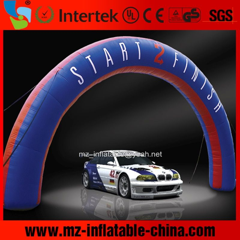 MZQM 5m W*4m H or customize custom outdoor finish line inflatable arch printed for race sport event