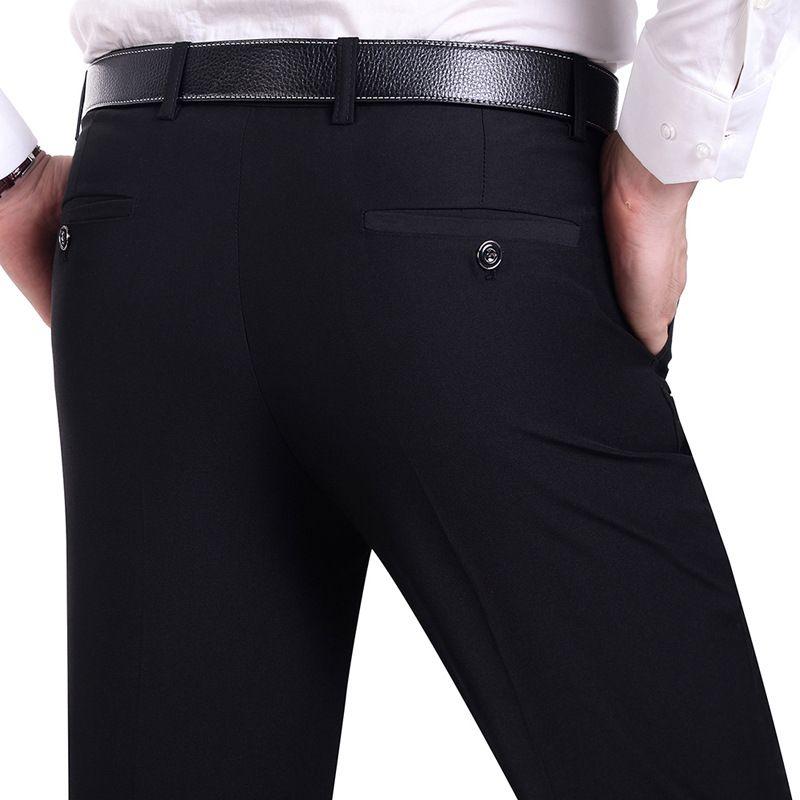<font><b>Suit</b></font> Pants Men Fashion Dress Pants Social Mens Dress Pants Black Formal <font><b>Suit</b></font> Pants Business Male Wedding Dress Casual Men Trouse