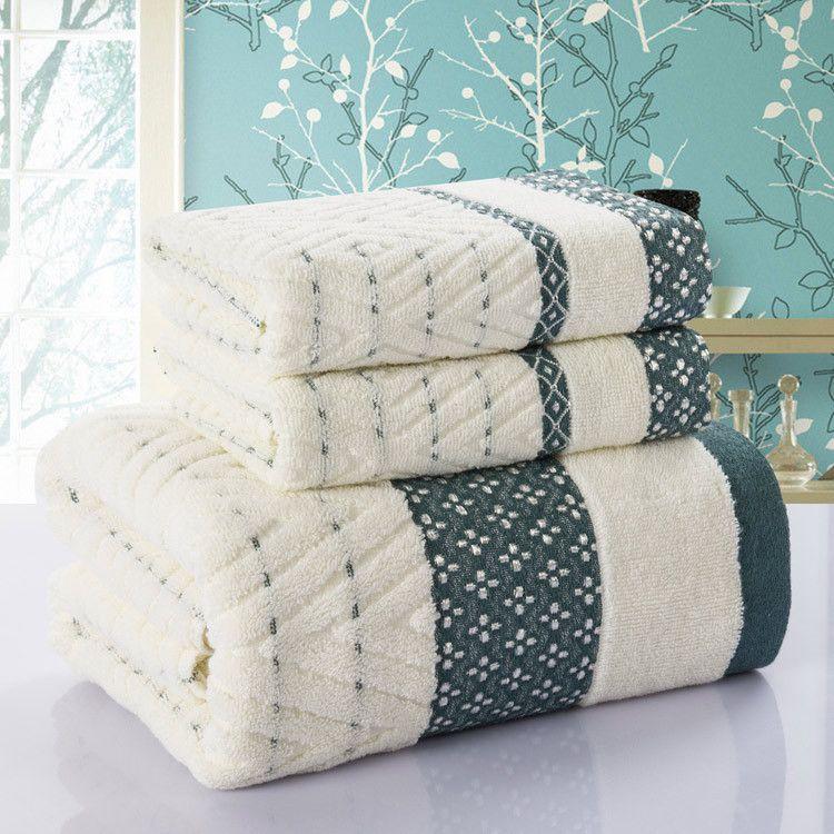 Diamant Plaid 3 pcs serviette 100% coton face à la plage de bain ensembles de serviettes pour adultes 33 cm * 75 cm * 2 p 70 cm * 140 cm * 1 p bambou serviette de bain