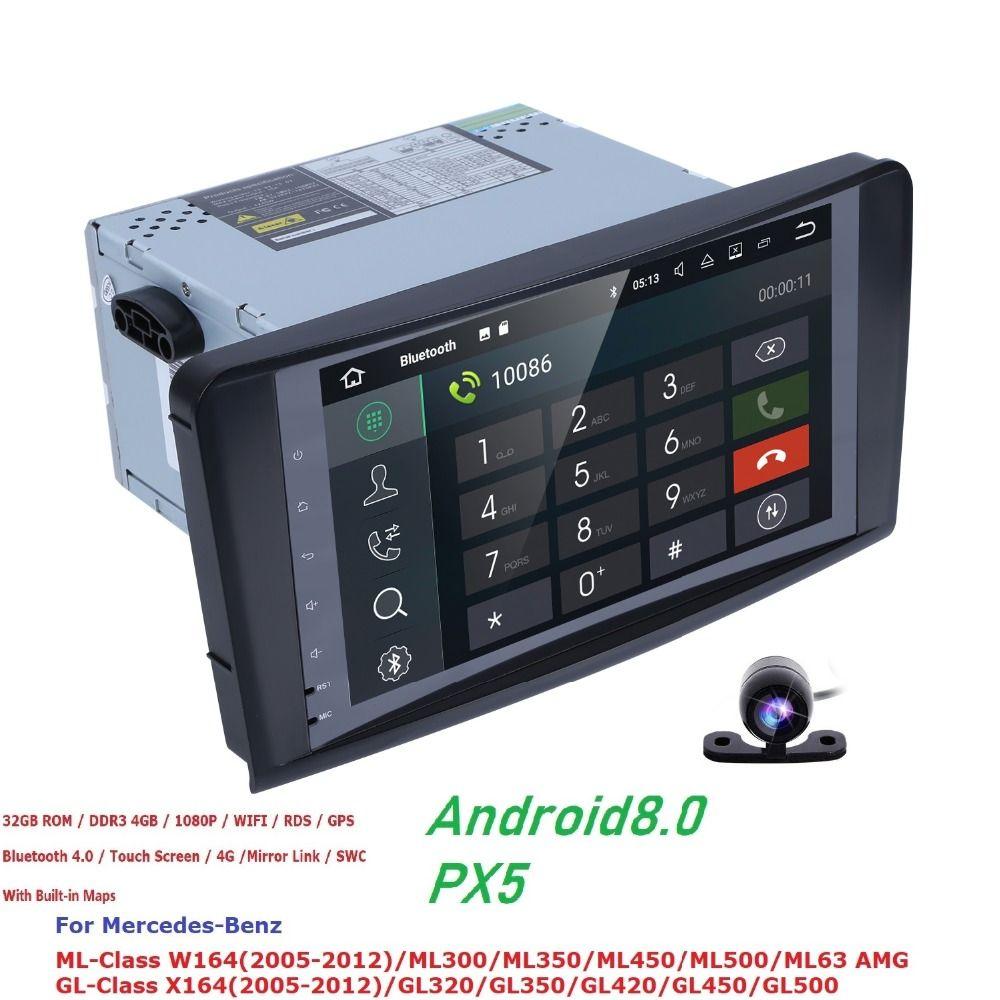 Hizpo Android 8.0 2 din Auto Radio Auto Multimedia Für Mercedes ML W164 GL X164 ML350 ML500 GL320 Kopf einheit Audio bildschirm Wifi 4 gb