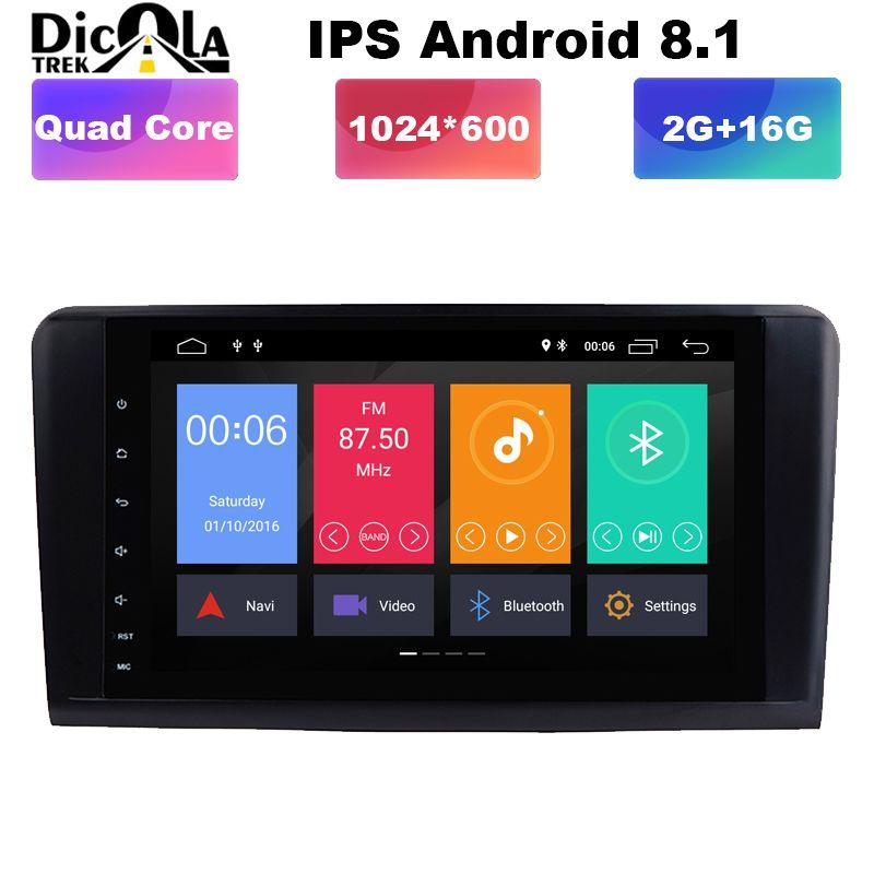 IPS Android 8.1! Zwei Din 9 Zoll Auto DVD Player Für Mercedes/Benz/GL ML KLASSE W164 X164 ML350 ML450 GL320 GL450 Wifi GPS BT Radio